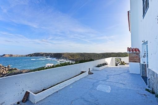 Spacious sea view terrace