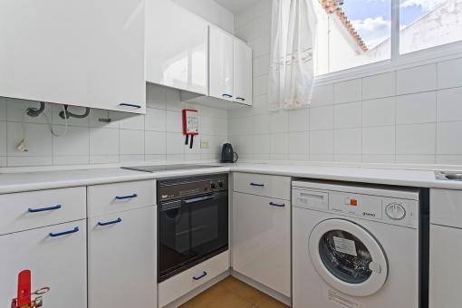 Bright kitchen in white