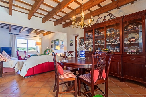 Authentic living and dining area