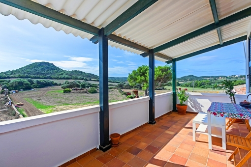 Terrace with beautiful landscape views