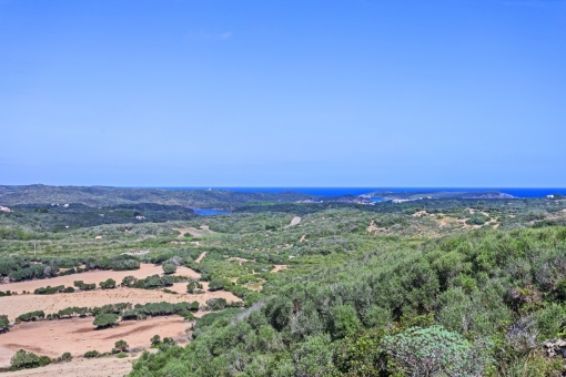 Large, 44 hectare country estate with a finca, outbuildings and stables offering 360° sea views in Es Grau near Mahon