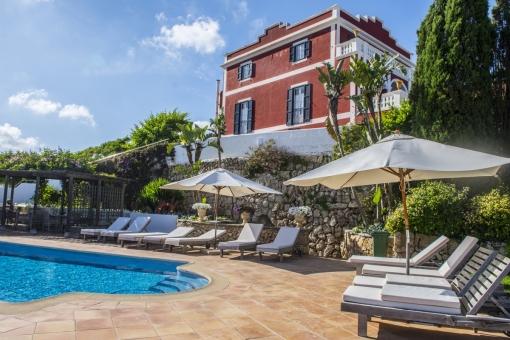 Preciosa casa de campo/hotel cerca de Es Castell con vistas al mar y mucho encanto - comprar