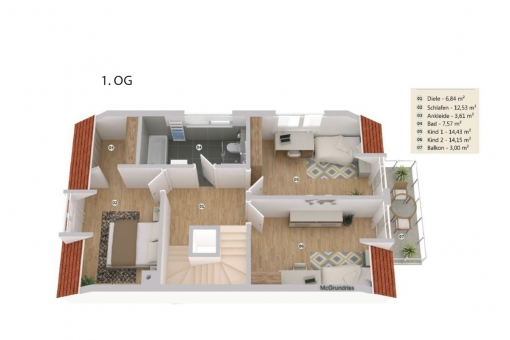 Plan from the first floor