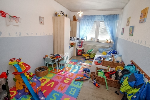Bright children's room on the upper floor