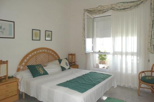 The master bedroom on the veranda overlooking the sea