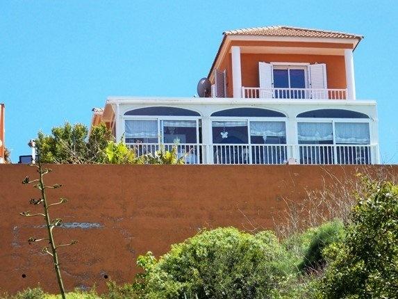Rückwärtige Ansicht der Villa