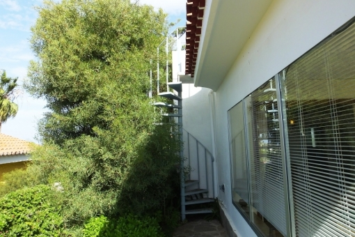 Stairway to the roof terrace