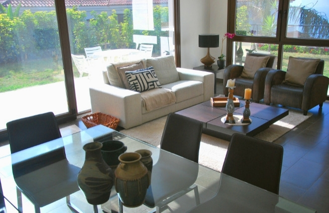 Living room of the guest house with terrace