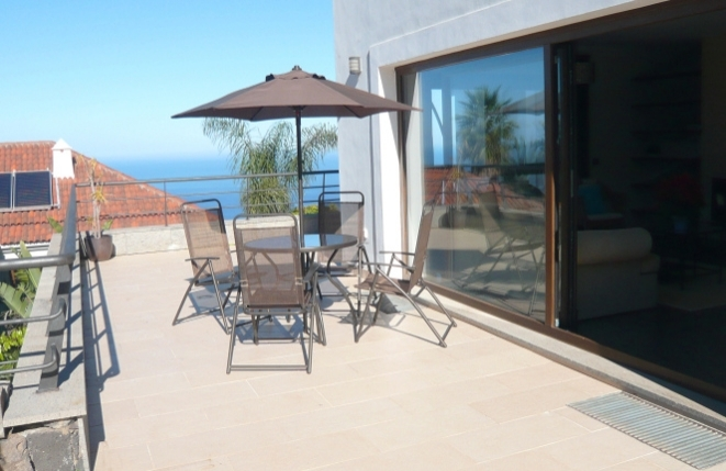 Large terrace with sea view