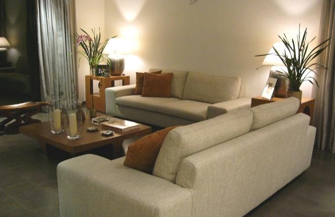 Stylishly furnished living room