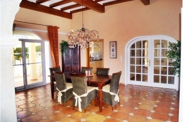 The heavenly, spacious dining room