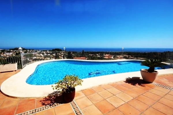 The pool with magnificent views