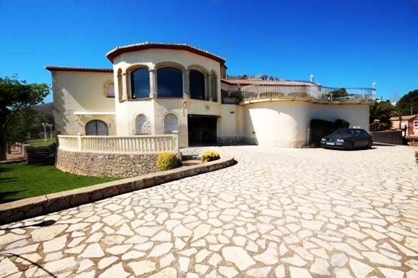 The driveway of the luxury villa